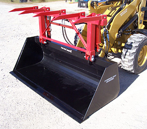 Standard grapple with bucket.